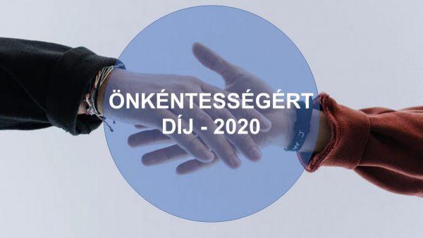 Önkéntességért Díj 2020-ban is